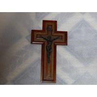 Католический Крест распятия, конец 19 начало 20 века, размер 25х16 см