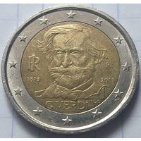 Италия 2 евро, 2013 200 лет со дня рождения Джузеппе Верди        ( 6-7-2 )
