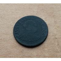 Август III Саксонский, 1 грош 1754 года