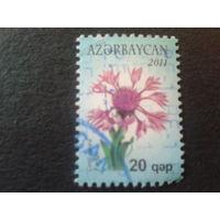 Азербайджан 2011 стандарт, цветы