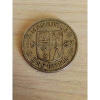 Маврикий 1 рупия 1987г.