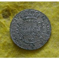 6 грошей 1756 г Нечастый отличный