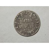 Речь Посполитая тымф (30 грошей) 1665г