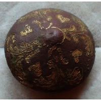Интересная пуговица-гирька с остатками позолоты