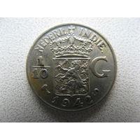 Нидерландская Индия 1/10 гульдена 1942 г. серебро