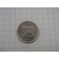 Нидерланды 25 центов 2000г.km204