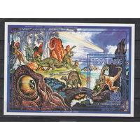 Того Динозавры 1994 год чистая полная серия из 6-ти марок и блока