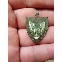 Тяжёлый старинный Польский знак ZML бронзовый латунь Эмали в отличном состоянии не с рубля