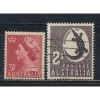 GB Австралия 1956 EII Крокодил Стандарт Полная #260-1