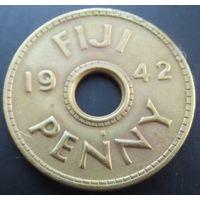 Фиджи. пенни 1942