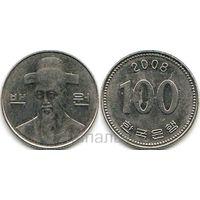 Южная Корея 100 вон 2008