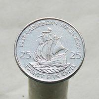 Восточно-Карибские Штаты 25 центов 2002