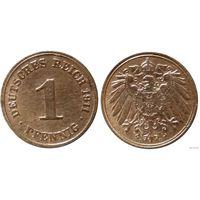 YS: Германия, Рейх, 1 пфенниг 1911D, KM# 10 (2)