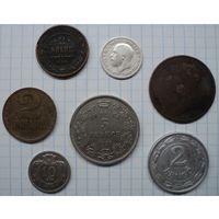 Небольшой сборный лот старых монет с серебром