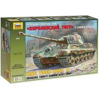 ЗВЕЗДА 3601 - Немецкий тяжелый танк КОРОЛЕВСКИЙ ТИГР с башней ХЕНШЕЛЬ / Сборная модель 1:35