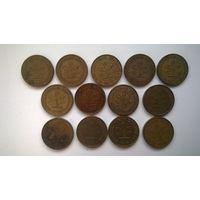 Германия ФРГ 5 пфеннигов ( цена за одну монету)