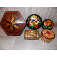 Шкатулки ссср, деревянные советские шкатулки