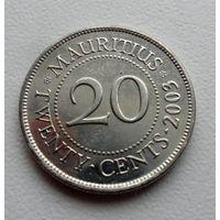 20 центов Маврикий 2003 год