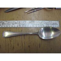 Ложка мельхиоровая с серебрением.
