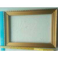 Рамка золотистая деревянная для иконы, картины и т.д.
