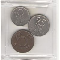 5 эре 1973, 10 эре 1965 и 25 эре 1963. Возможен обмен