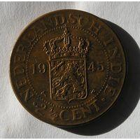 Голландская Индия, 2 1/2 Цента 1945