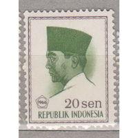 Известные люди президент Сукарно Индонезия 1966 год лот 1012 ЧИСТАЯ