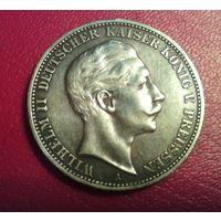 Германия. Пруссия. Вильгельм II. 3 марки .