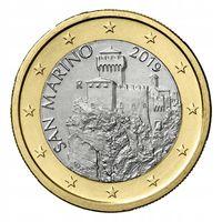 1 евро 2019 Сан-Марино UNC из ролла