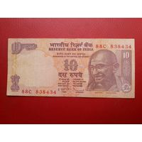 Банкнота 10 рупий Индия.