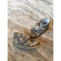 Ботинки для мальчика из нубука-ортопедические 26 р-р