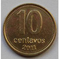 Аргентина 10 сентаво, 2011 г. Магнитная.