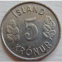 Исландия 5 крон 1975 год