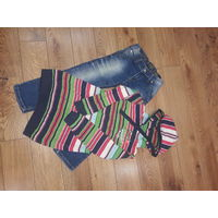 Фирменные джинсы и худи-байка для девочки рост 110-116 см.