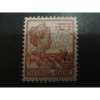 Нидерландская Индия 1921 Колония королева надпечатка 12 1/2 на 17 1/2