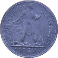 РАСПРОДАЖА!!! - ГЕРМАНИЯ ЦВИЗЕЛЬ 10 пфеннигов 1920 год - aUNC!