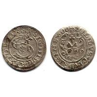 Шеляг 1600, Сигизмунд III Ваза, Рига, более редкий год - R