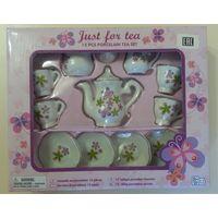 """Игрушка набор чайный """"Цветы"""". Новый. 13 предметов. Керамика."""