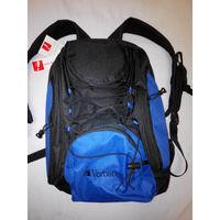Рюкзак черный с синим Verbatim