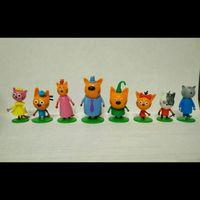 Фигурки Три кота из Чупа чупс