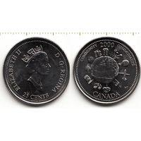 Канада 25 центов 2000 Сообщество UNC
