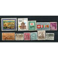 Марки разных стран (1) - 11 марок. Гашеные. Старт с 1 коп. (Лот 1G)