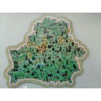 Карта-пазл животный и растительный мир Беларуси (с оживающими 3D животными)