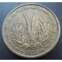 Того. 25 франков 1957