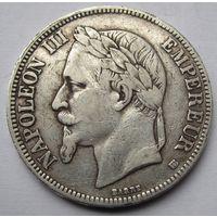 Франция, 5 франков, 1868, серебро