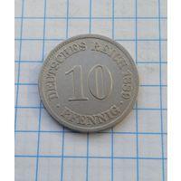 Германия 10 пфенниг 1889г. -А-