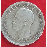 Италия 5 лир 1930. Нечастая