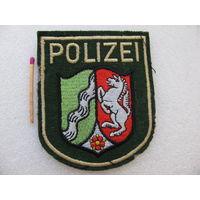 Шеврон. Полиция земли Северный Рейн Вестфалия. Германия. шитый