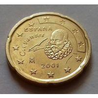20 евроцентов, Испания 2001 г.