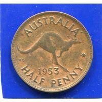 Австралия 1/2 пенни 1953